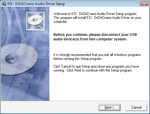 ESI - Knowledge Base / FAQ: Installation of the Dr  DAC